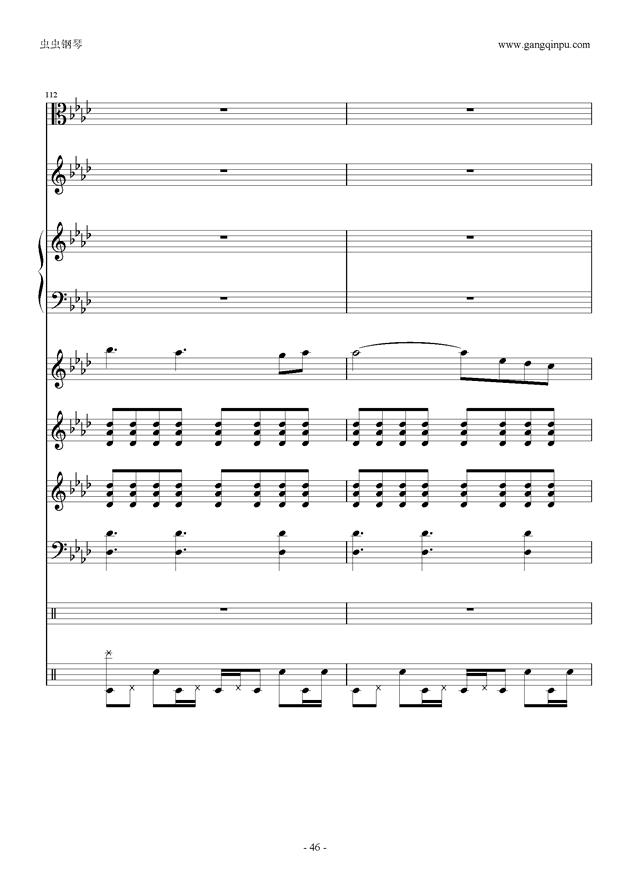 刀剑神域钢琴谱 第46页