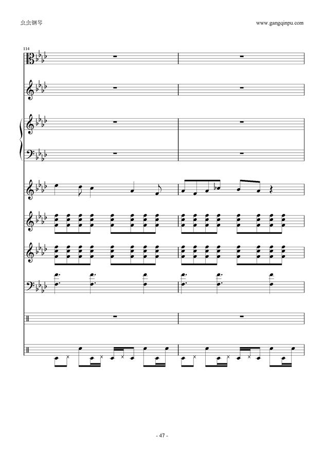 刀剑神域钢琴谱 第47页