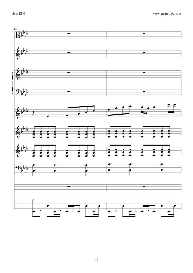 刀剑神域钢琴谱 第48页