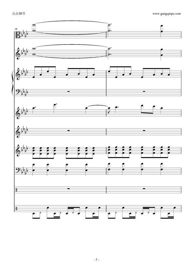 刀剑神域钢琴谱 第5页