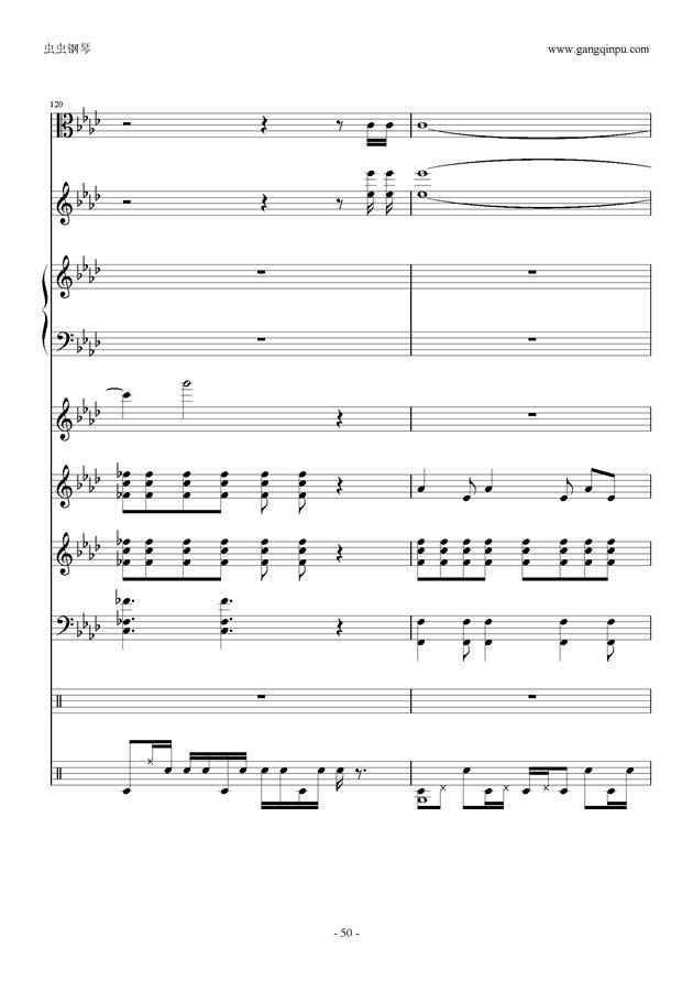刀剑神域钢琴谱 第50页