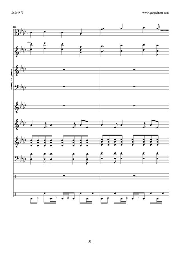 刀剑神域钢琴谱 第51页