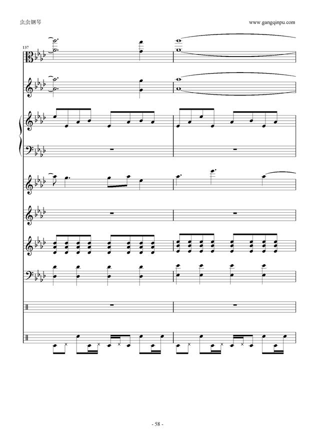 刀剑神域钢琴谱 第58页