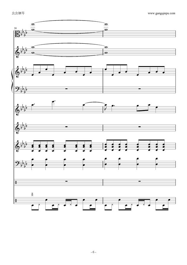 刀剑神域钢琴谱 第6页