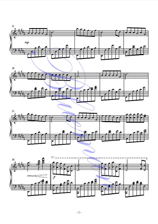 独角戏钢琴谱 第2页