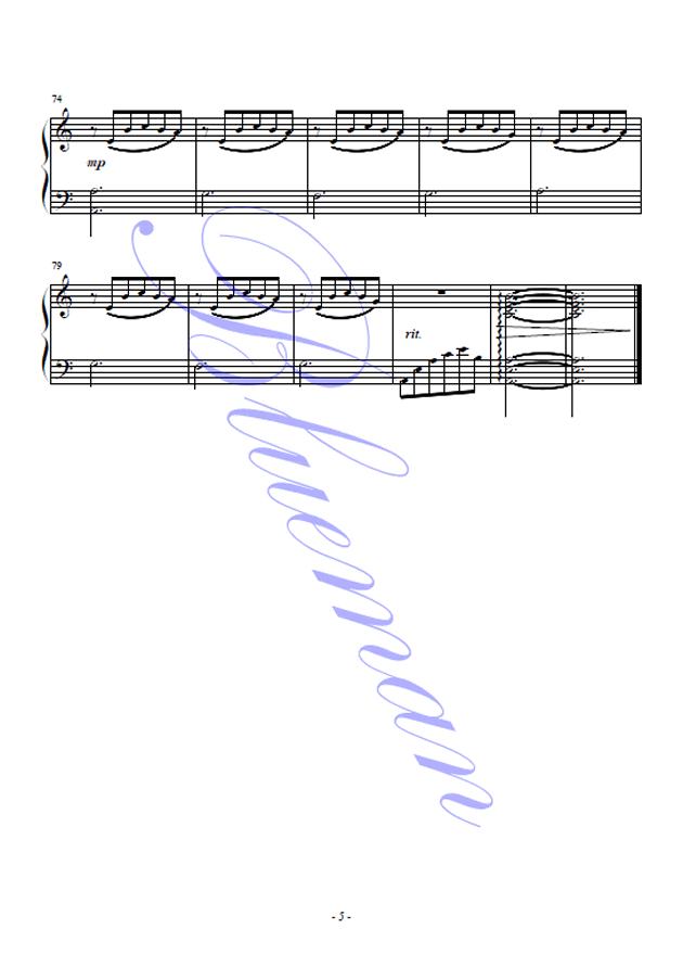 独角戏钢琴谱 第5页