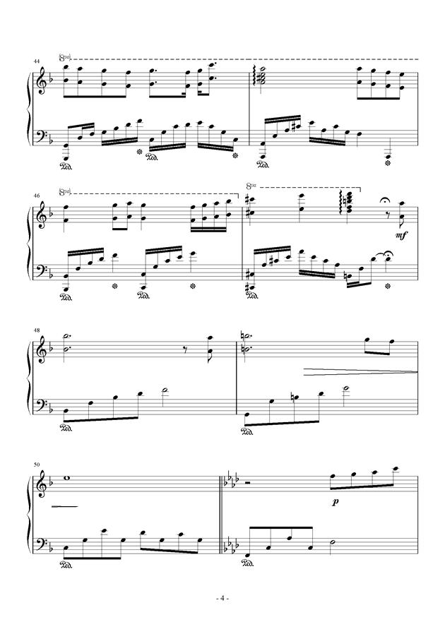 无题钢琴谱 第4页