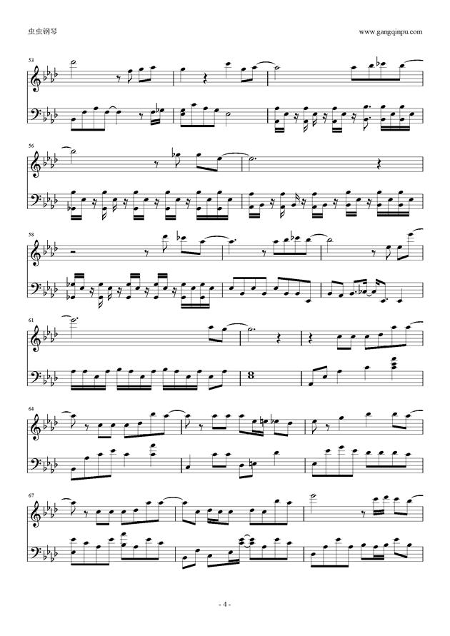 不说再见,不说再见钢琴谱,不说再见钢琴谱网,不说再见钢琴谱大