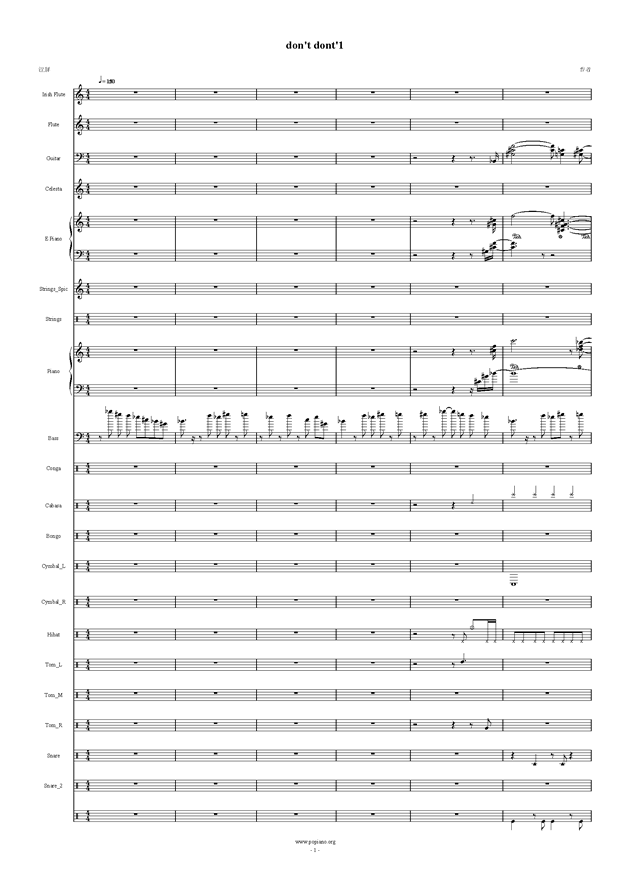 Don't Don't钢琴谱 第1页