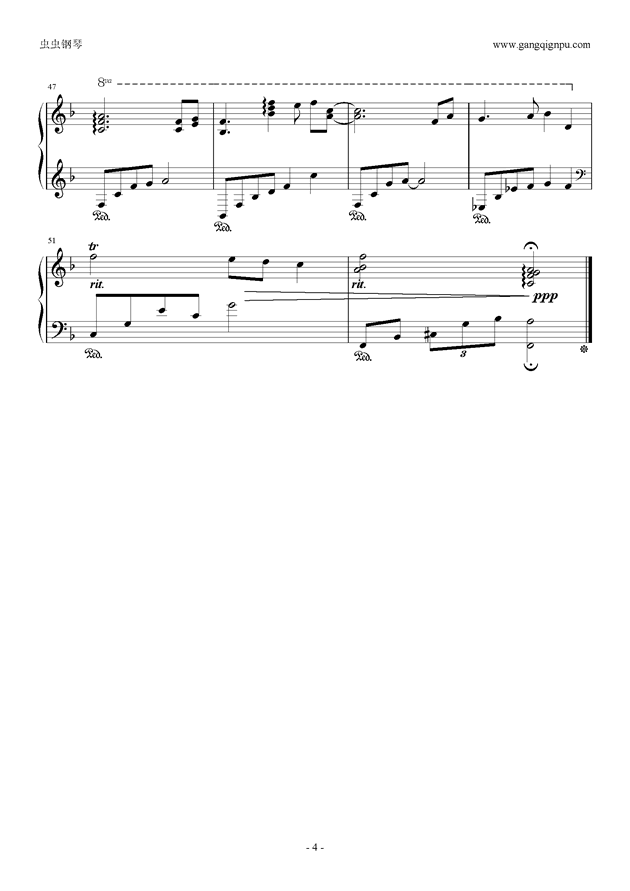 左耳钢琴谱 第4页