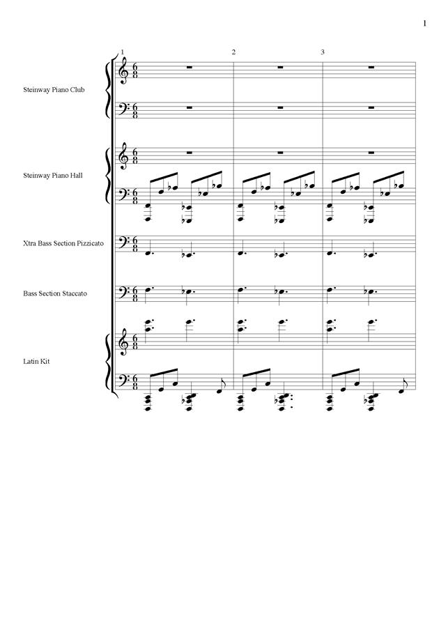 丝绸之路钢琴谱 第1页