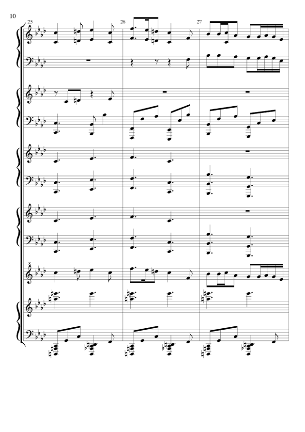 丝绸之路钢琴谱 第10页