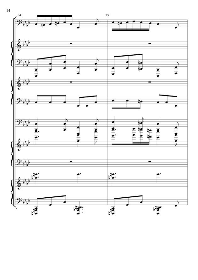 丝绸之路钢琴谱 第14页