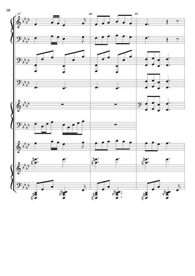 丝绸之路钢琴谱 第18页