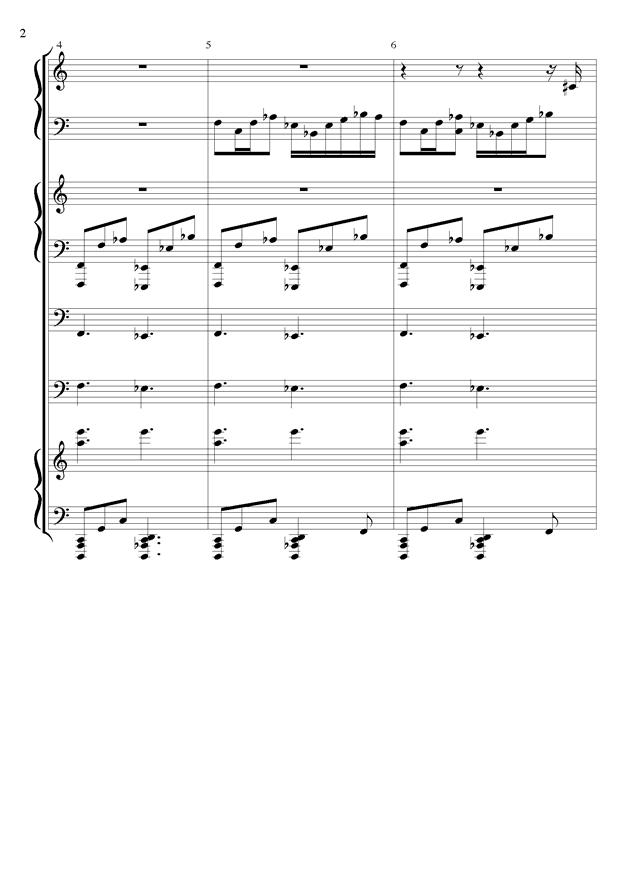 丝绸之路钢琴谱 第2页
