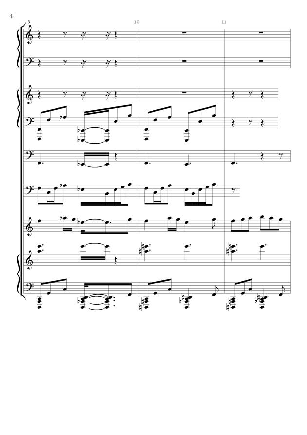 丝绸之路钢琴谱 第4页