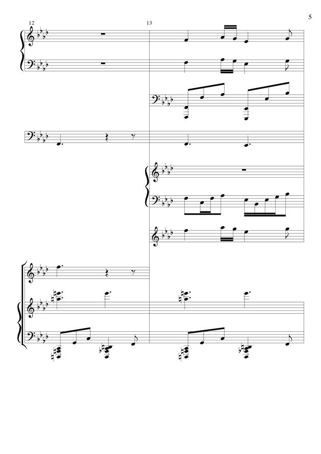 丝绸之路钢琴谱 第5页