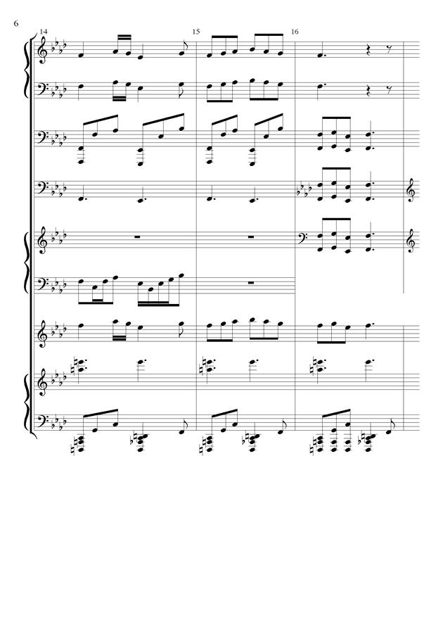 丝绸之路钢琴谱 第6页