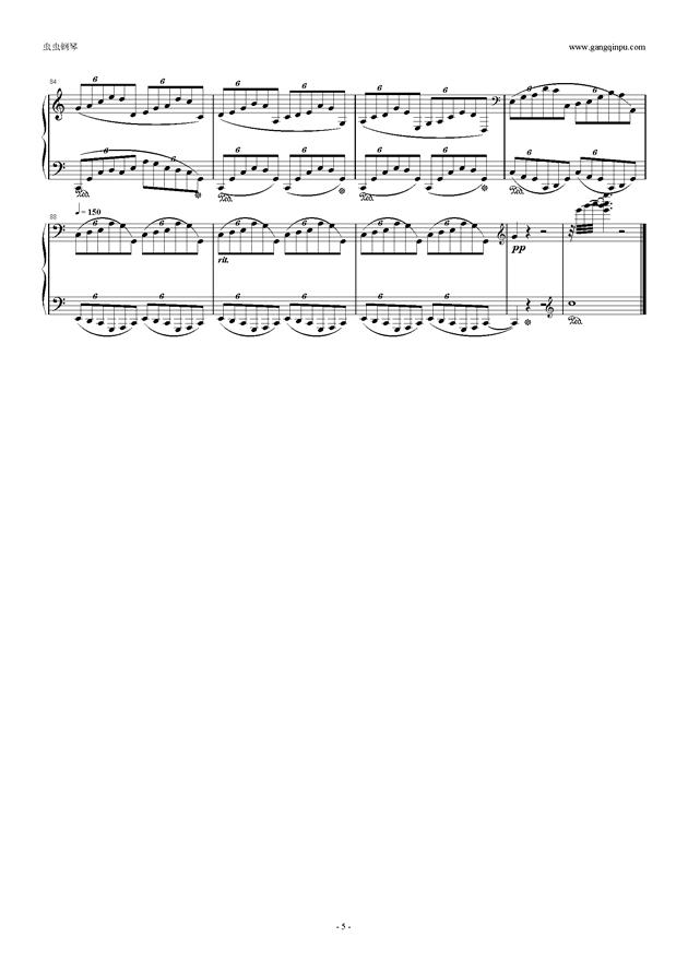 只要你在我身边钢琴谱 第5页