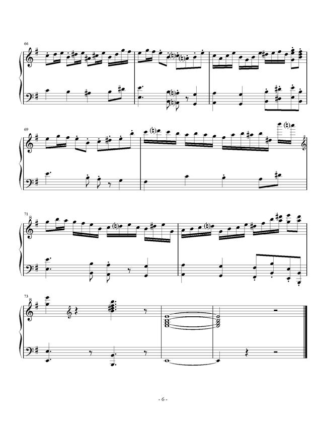 Toy war钢琴谱 第6页