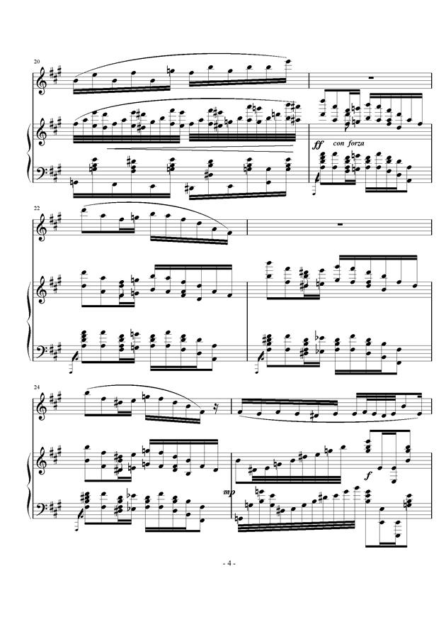小幸运 黑管曲谱-钢琴单簧管小奏鸣曲,钢琴单簧管小奏鸣曲钢琴谱,钢琴单簧管小奏