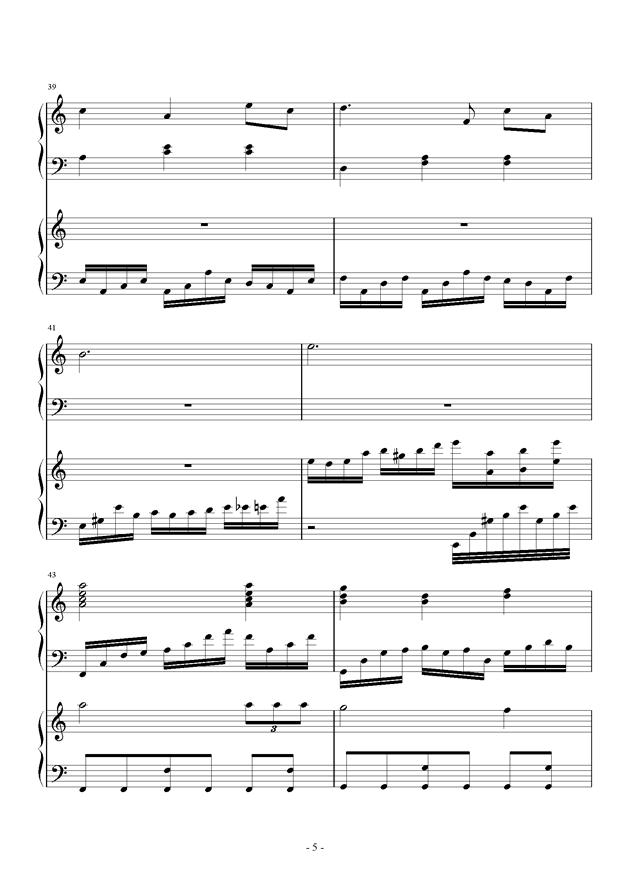 童之魂钢琴谱 第5页