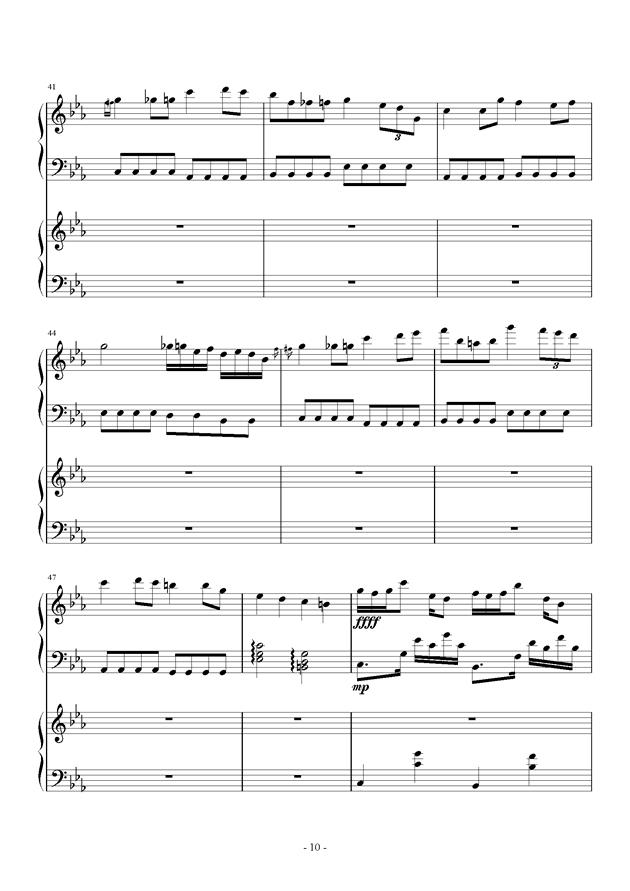 夜的狂想曲钢琴谱 第10页