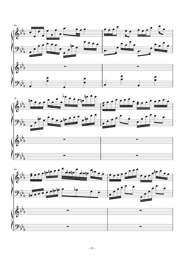 夜的狂想曲钢琴谱 第11页