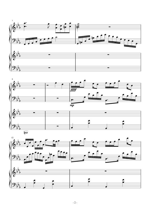 夜的狂想曲钢琴谱 第2页