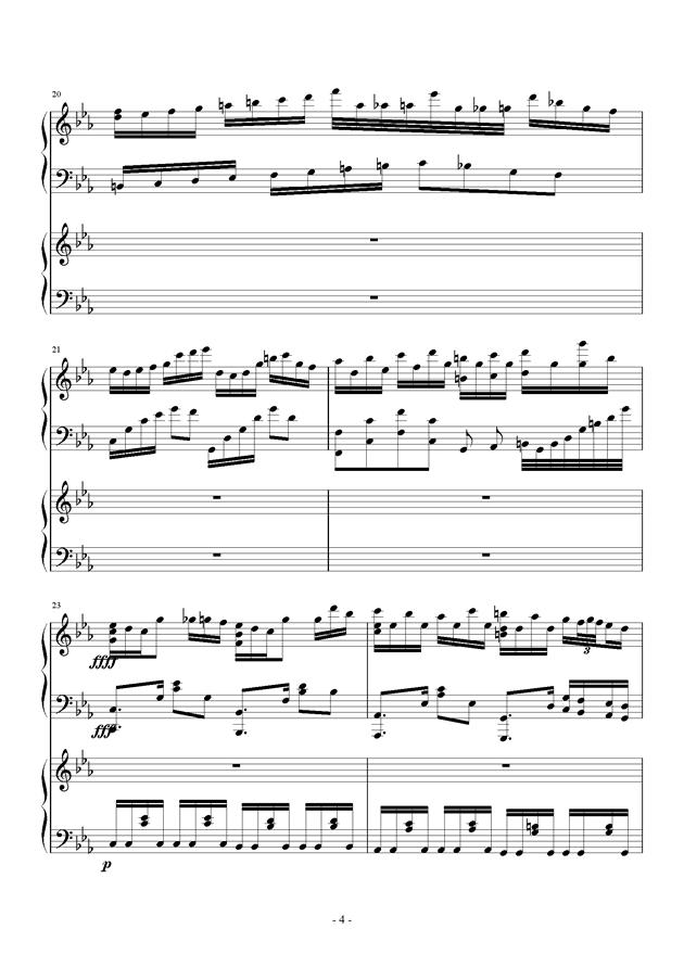夜的狂想曲钢琴谱 第4页
