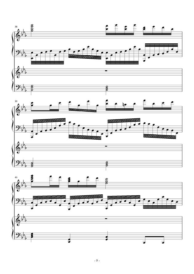 夜的狂想曲钢琴谱 第9页