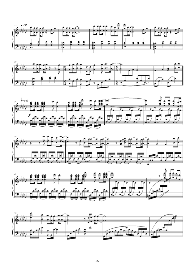 四月是你的谎言钢琴谱 第2页