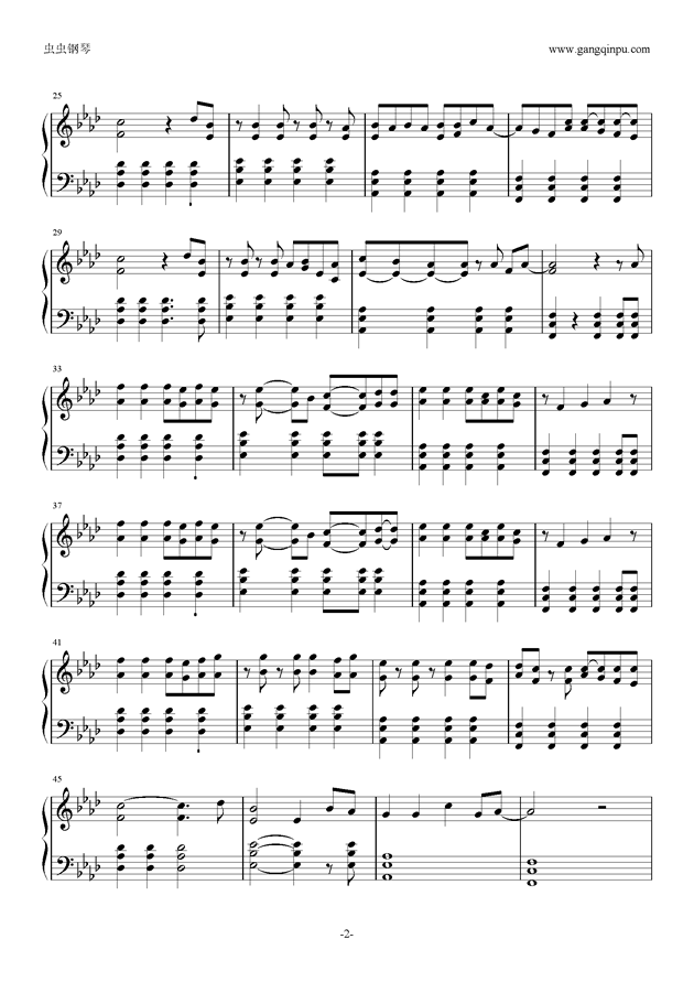 Viva la Vida钢琴谱 第2页