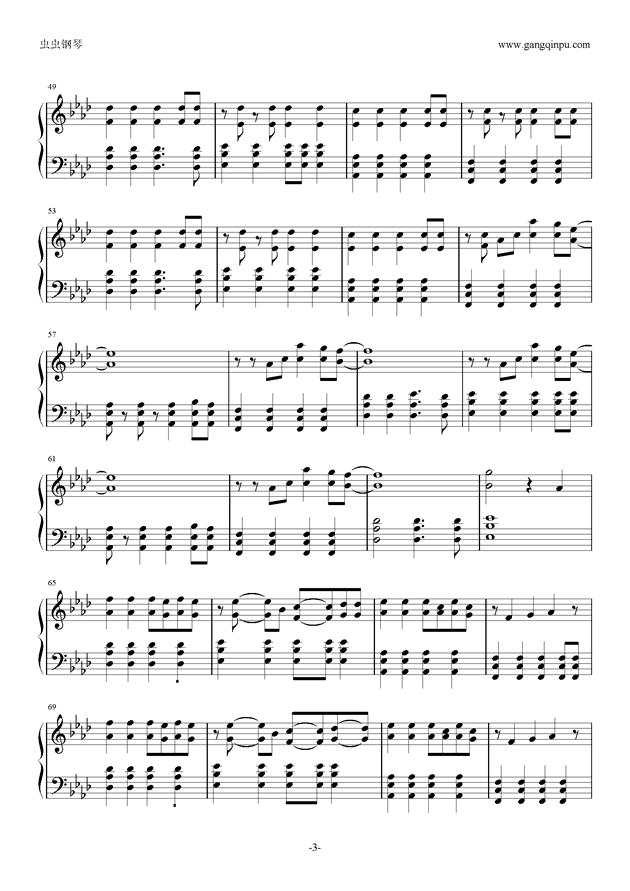 Viva la Vida钢琴谱 第3页