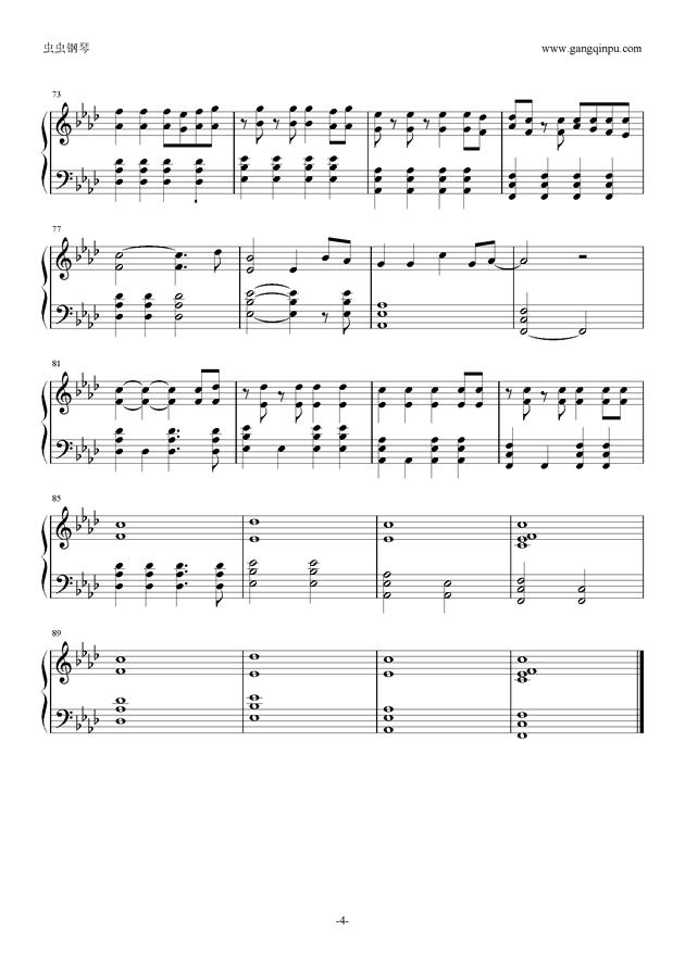 Viva la Vida钢琴谱 第4页