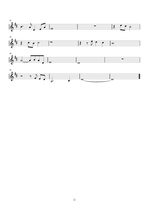 美人钢琴谱 第2页