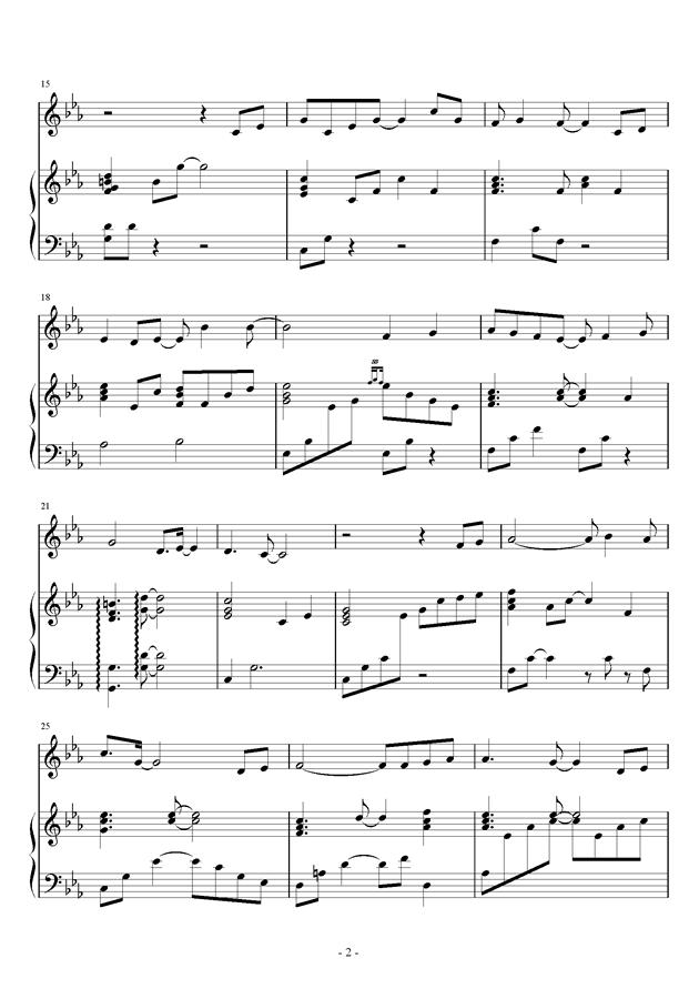 流行钢琴谱 第2页