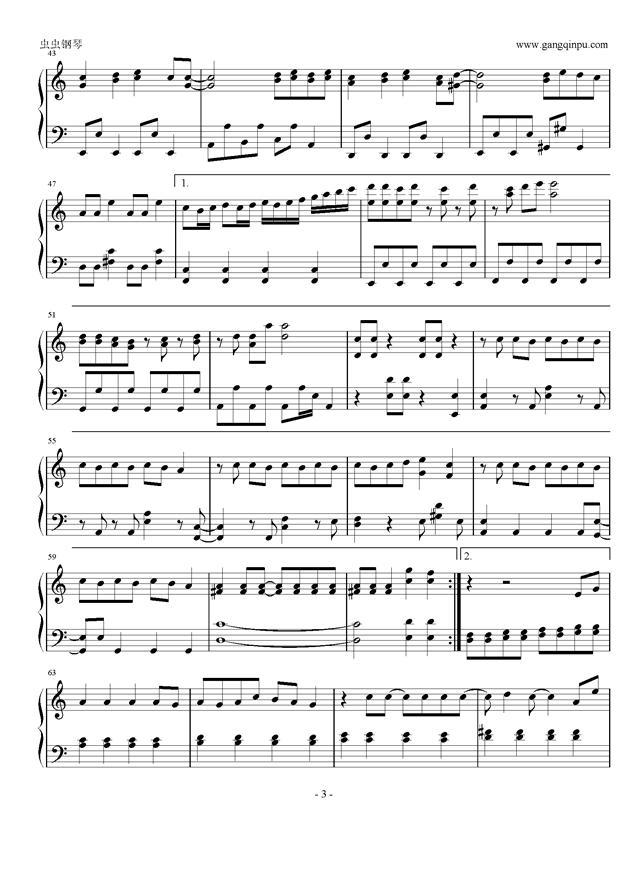 trouble 钢琴谱 maker