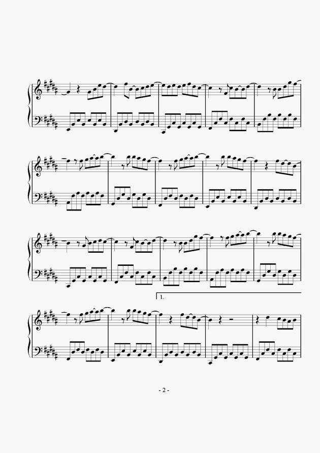 明天,你好钢琴谱 第2页