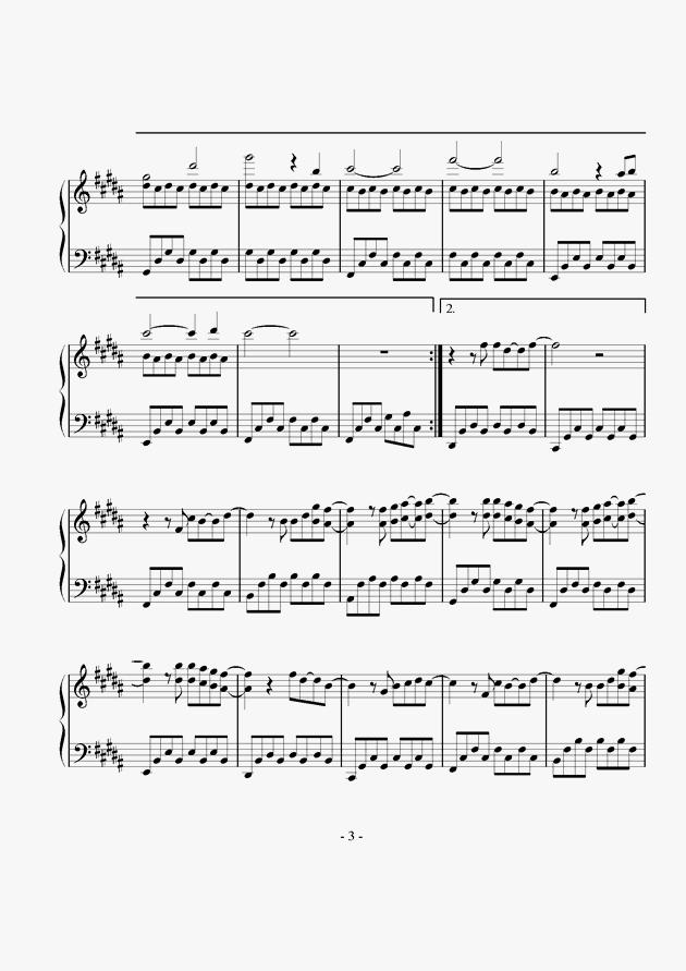 明天,你好钢琴谱 第3页