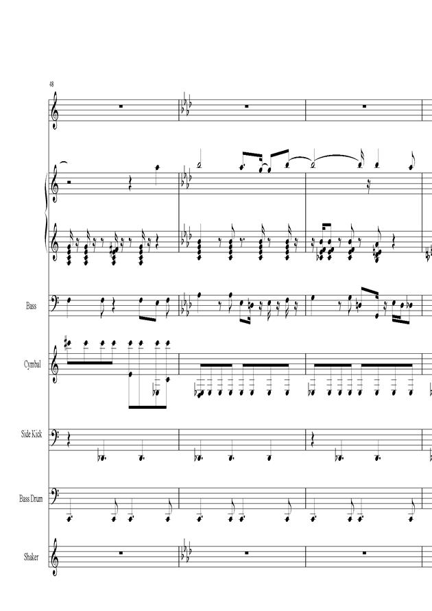 Acai na tigela钢琴谱 第10页