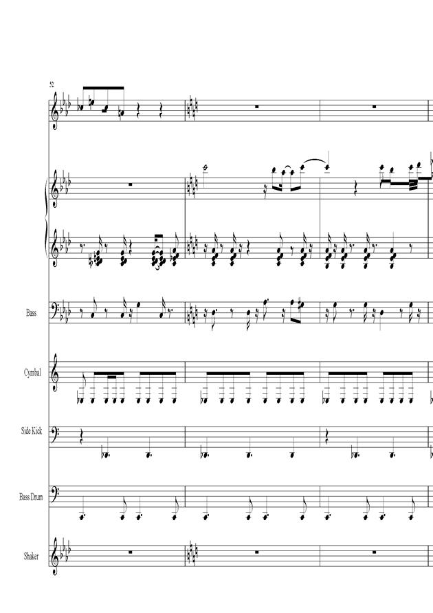 Acai na tigela钢琴谱 第11页