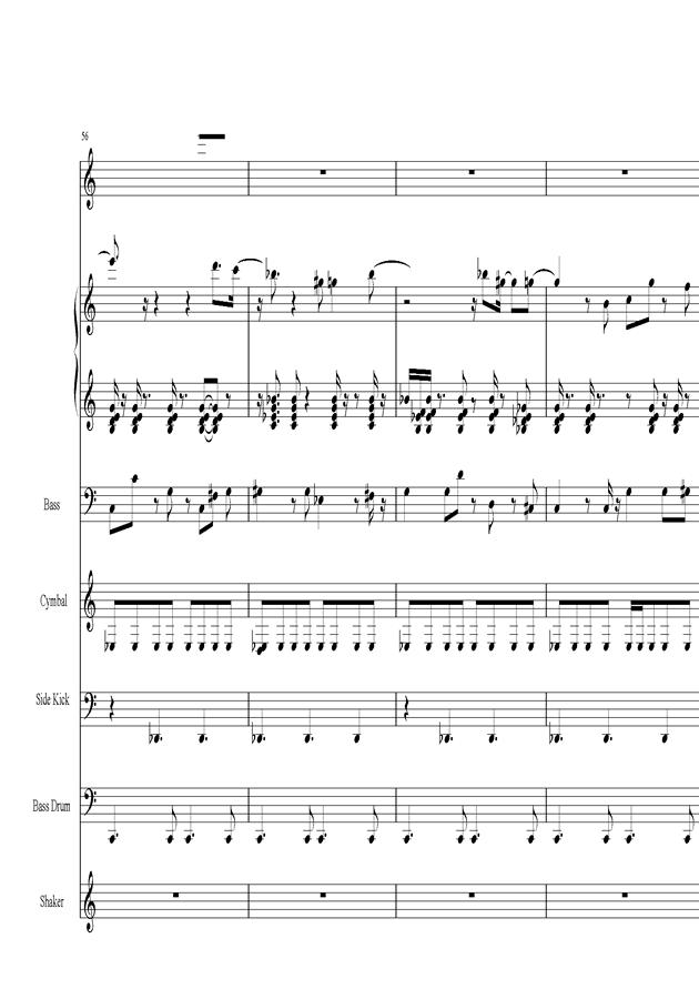 Acai na tigela钢琴谱 第12页