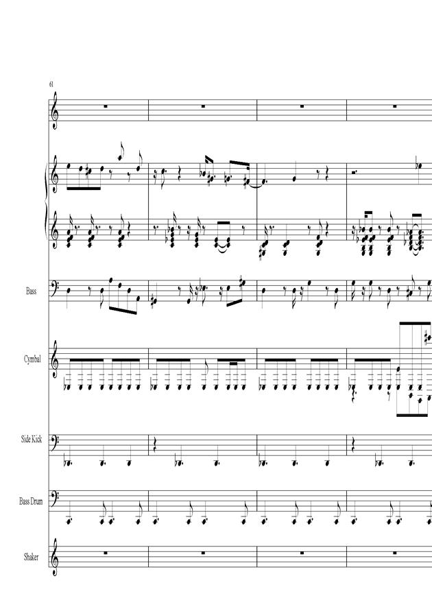 Acai na tigela钢琴谱 第13页