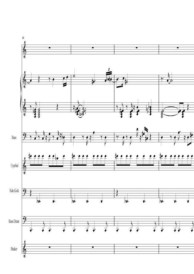 Acai na tigela钢琴谱 第14页