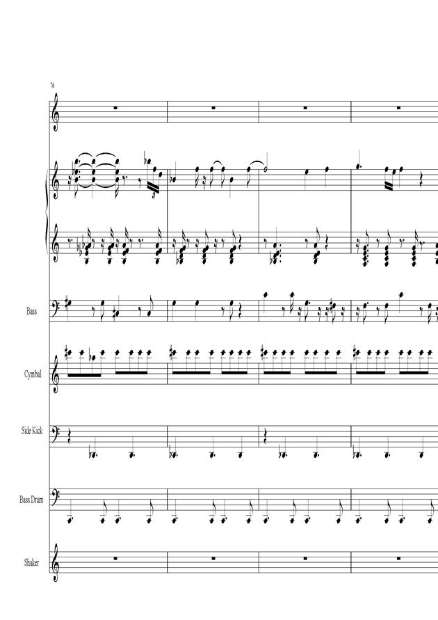 Acai na tigela钢琴谱 第16页