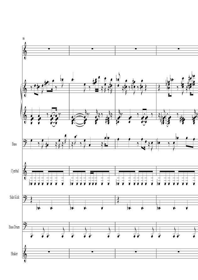 Acai na tigela钢琴谱 第18页