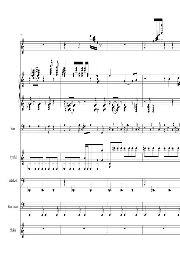 Acai na tigela钢琴谱 第20页