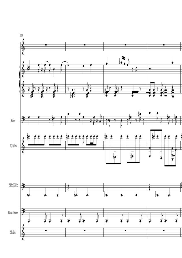 Acai na tigela钢琴谱 第23页