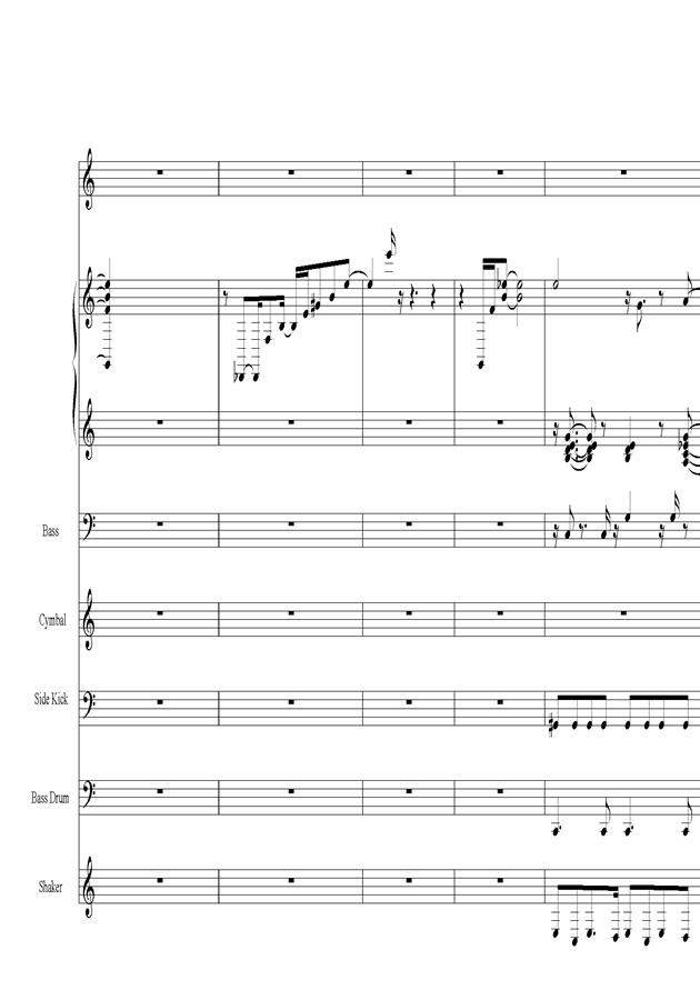 Acai na tigela钢琴谱 第3页